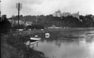 Arundel, Castle From The River Arun 1928