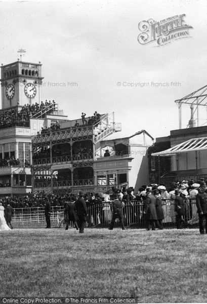 Ascot, Crowds At The Grandstand 1901