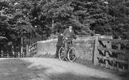 Ascot, Man And Bicycle 1906