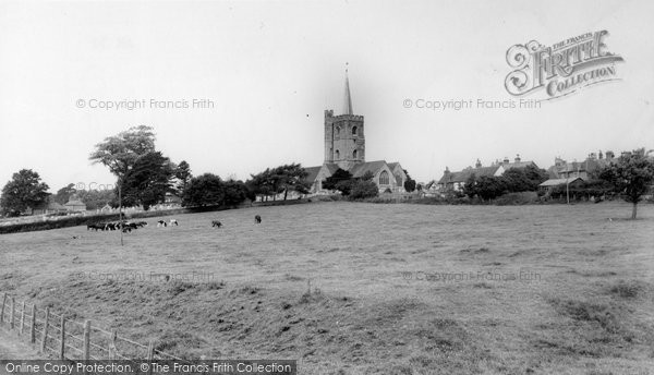 Ash, St Nicholas' Church From Moat Farm c.1965