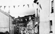 Ashburton, Bunting In East Street c.1955