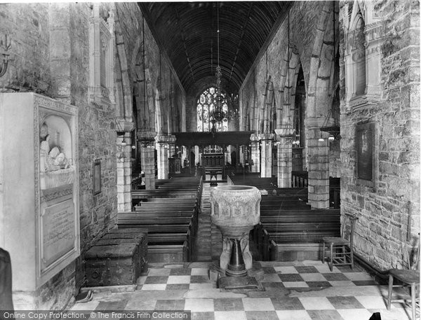 Ashburton, Church Interior 1927