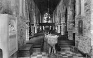 Ashburton, Church Interior 1927