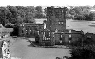 Ashby de la Zouch, Castle from St Helen's Church c1965