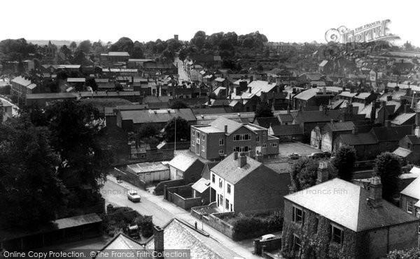 Ashby De La Zouch, View From St Helen's Church c.1965
