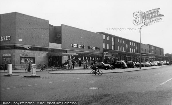 Photo of Ashby, Shopping Centre c1955