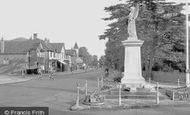 Ashford, Church Road And War Memorial c.1950