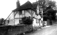 Ashford, East Hill, old cottages 1903