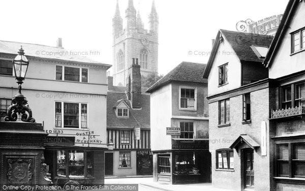 Ashford, High Street And St Mary's Church 1901
