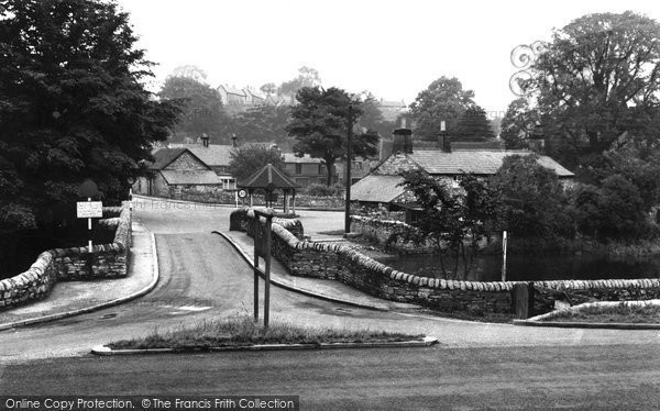 Ashford In The Water, From The Sheepwash Bridge c.1955