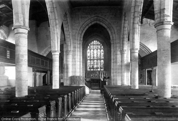 Ashford, Parish Church Interior 1901