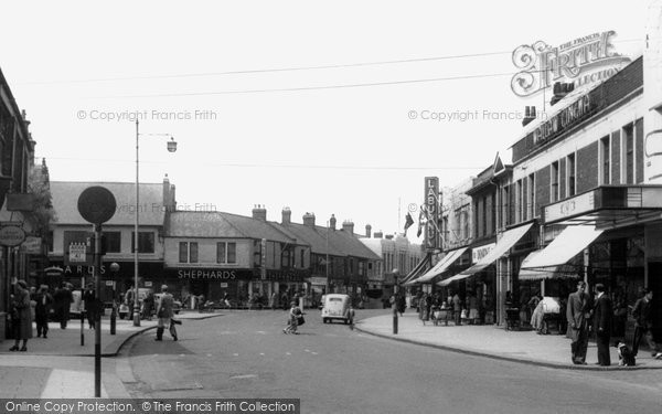 Ashington, Station Road c.1955