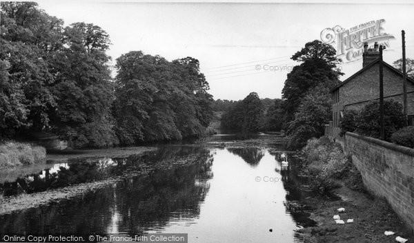 Ashington, The River Wansbeck At Sheepwash  c.1955