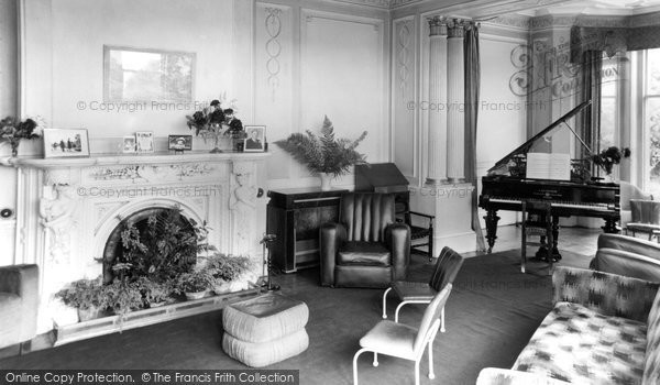 Ashover, Eastwood Grange Drawing Room c.1955