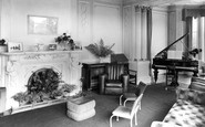 Ashover, Eastwood Grange Drawing Room c.1955