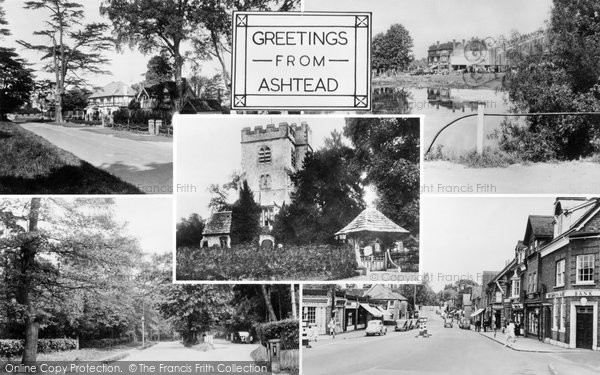 Ashtead, Greetings c.1955