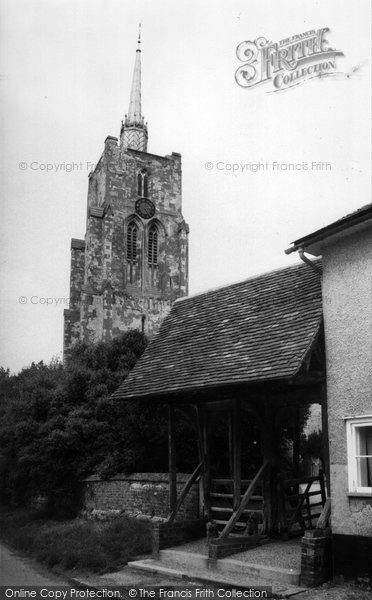 Ashwell, St Mary's Church And Lychgate c.1955
