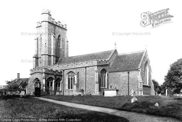 Assington, St Edmund's Church 1907