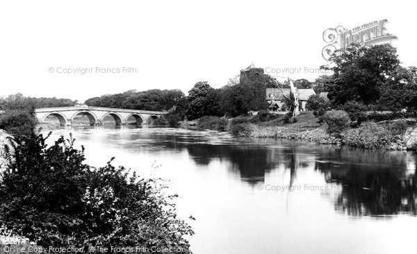 Atcham, Bridge And Church Of St Eata 1891