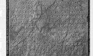 Athelney, Inscription On King Alfred's Monument c.1960