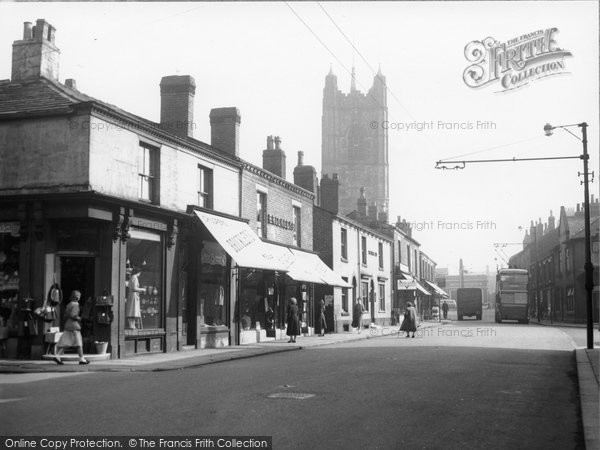 Atherton, Market Street And Parish Church c.1955