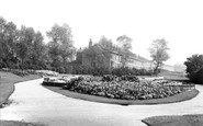 Atherton, the Sunken Gardens and Park c1955