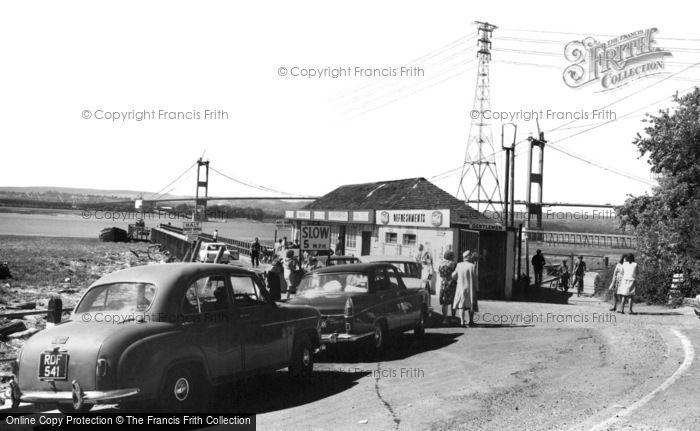 Aust, Ferry And Severn Bridge 1966