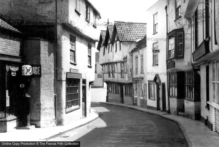 Axbridge, A Quaint Street c.1950