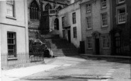 Axbridge, Church Steps c.1939