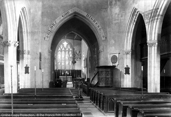 Axminster, Parish Church Interior 1902