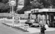 Axminster, West Street, Filling Station c.1960