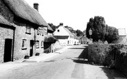 Axmouth, the Harbour Inn c1955