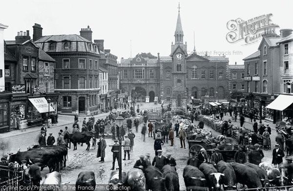 Aylesbury, Market Square 1921