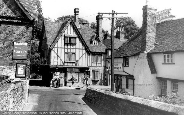 Aylesford, Bridge And High Street c.1960