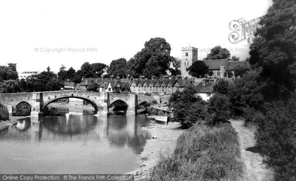Aylesford, Bridge And River Medway c.1960