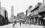 Ayr, Wallace Tower And High Street 1900