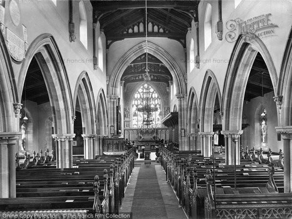 Aysgarth, Church Interior 1925