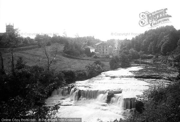 Aysgarth, Middle Fall And Church 1887