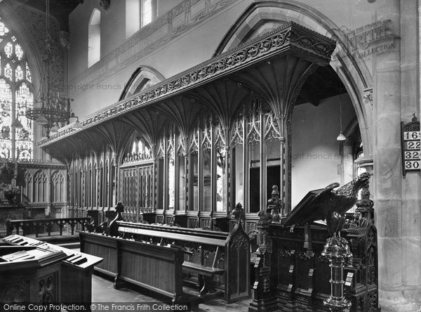 Aysgarth, St Andrew's Parish Church, Choir Stalls 1925