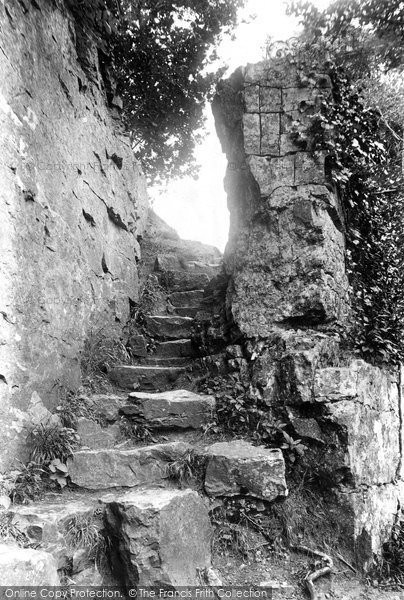 Aysgarth, Steps To Lower Falls 1909