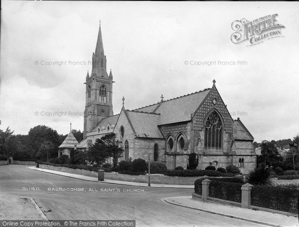 Babbacombe, All Saint's Church 1928