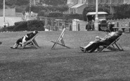 Babbacombe, Deck Chairs On The Downs 1928