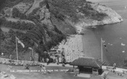 Babbacombe, Oddicombe Beach From The Sefton Hotel c.1960