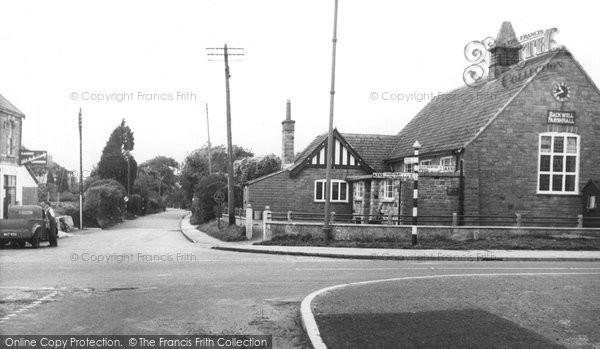 Backwell, Parish Hall And Station Road c.1955