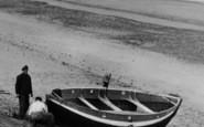Bacton, Fishermen On The Beach c.1955