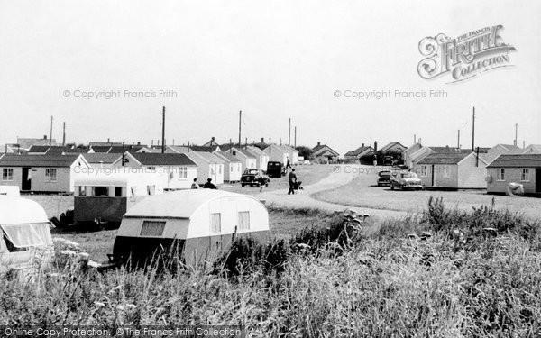 Bacton, The Caravan Site c.1955