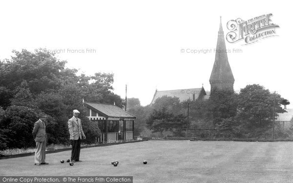 Photo of Bacup, Bowling Green, Moorlands Park c1955