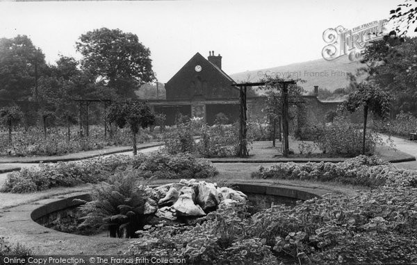 Bacup, Stubbylee Park Rose Garden c.1955
