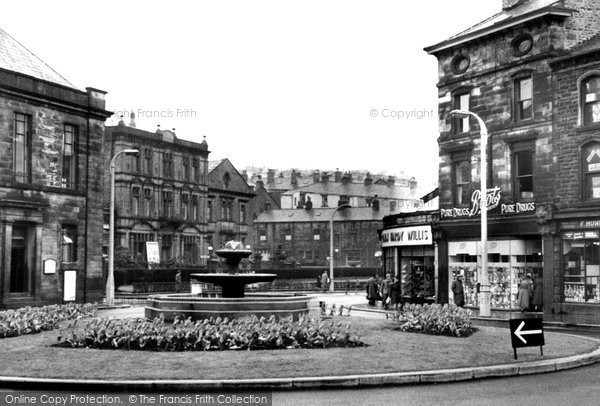 Photo of Bacup, the Fountain, St James Square c1955