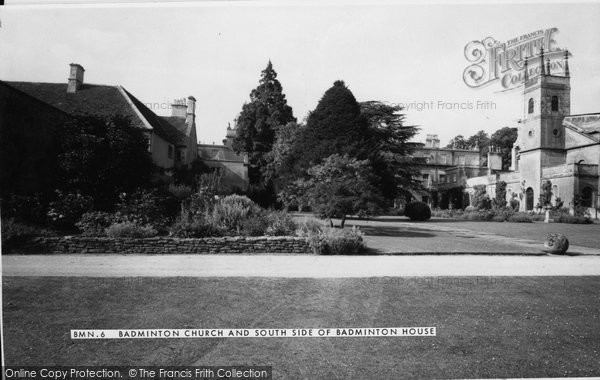Badminton, Church Of St Michael And All Angels And South Side Of House c.1960